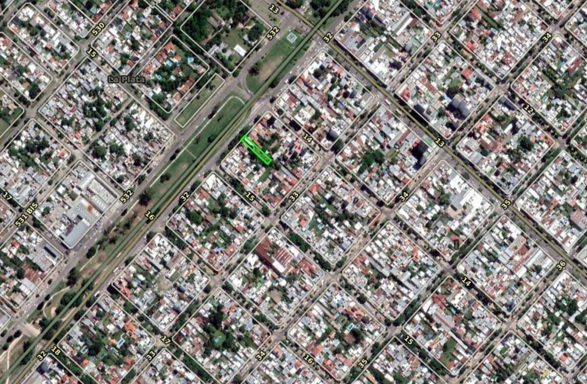 terreno 8,50 x 60 mts-510 mts 2 - sobre avenida  32 -la plata