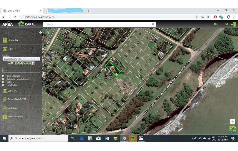 terreno 884 m2 en chapadmalal con mejoras