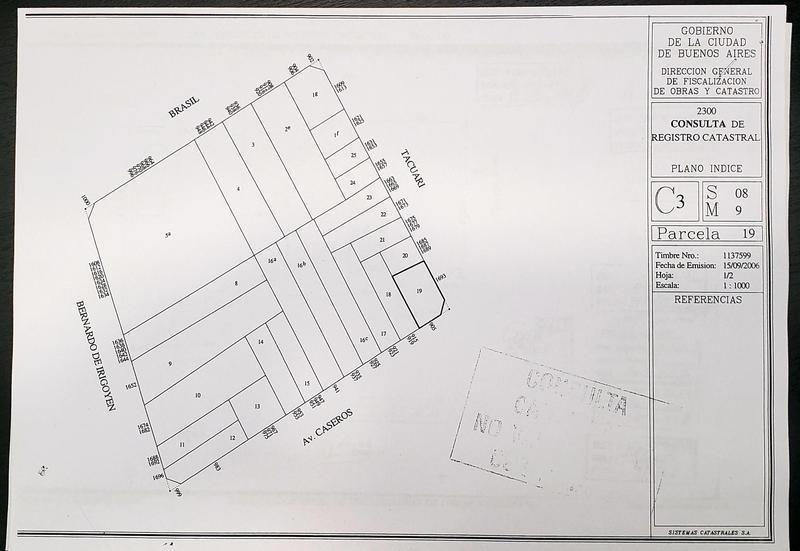 terreno 9.50 x 32.10 - caseros 900 - san telmo