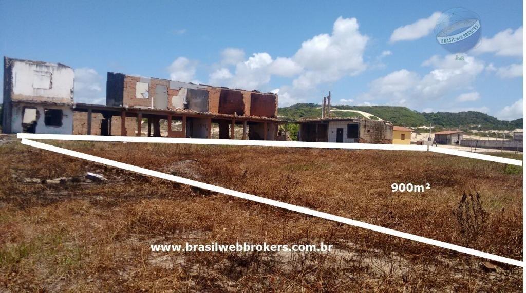 terreno a 60 metros da praia de búzios/rn - te0016