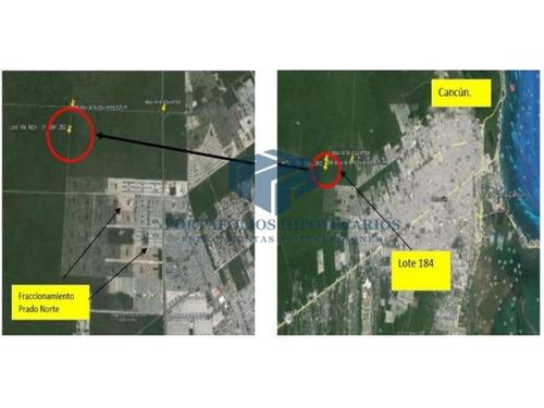 terreno a desarrollar en cancun centro, ideal para invertir