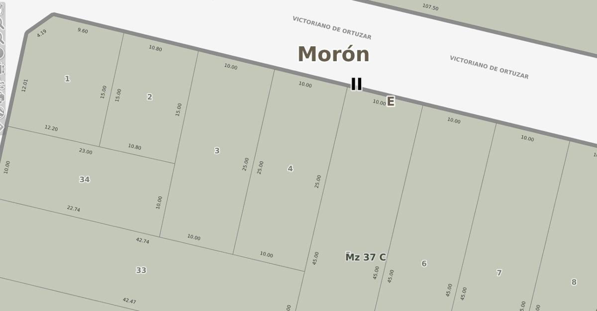 terreno a la venta, castelar sur, apto 3 duplex o vivienda
