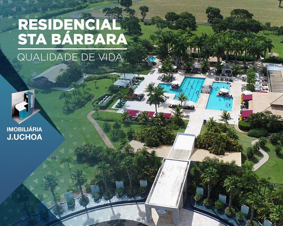 terreno a venda condomínio santa barbara resort residence i