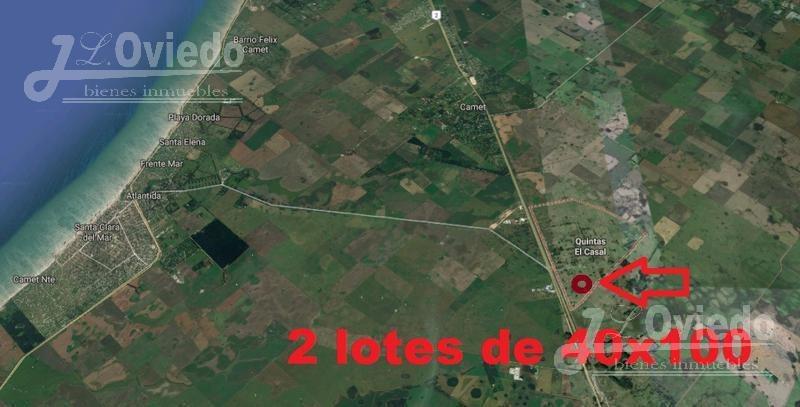 terreno anticipo y cuotas fijas en pesos***
