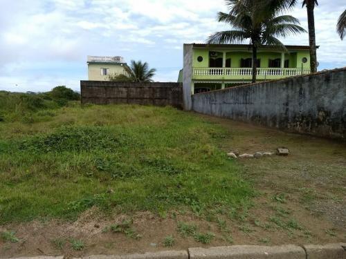 terreno aterrado de frente para o mar em itanhaém/sp