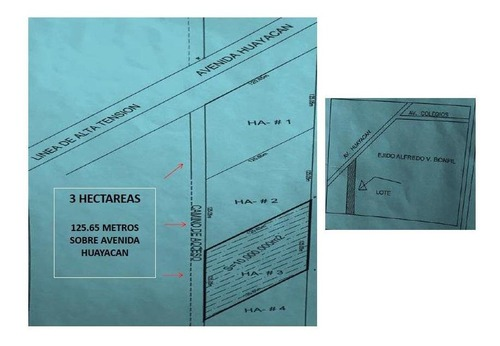 terreno av huayacan, cancun sup. 3 hectareas