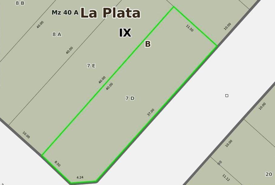 terreno - avenida 7 esq. 98 zona sur