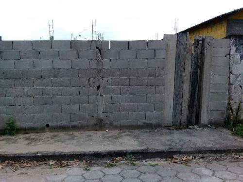 terreno c/ construção iniciada - 135 m²! itanhaém-sp!
