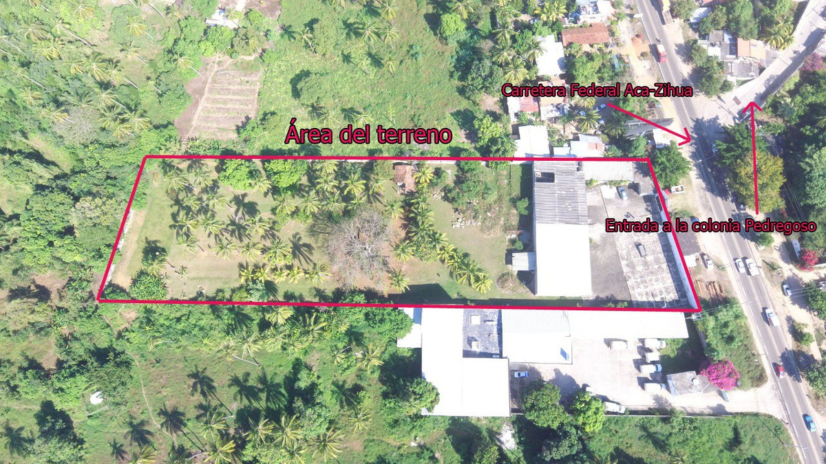 terreno carretera fed acapulco-zuhuatanejo