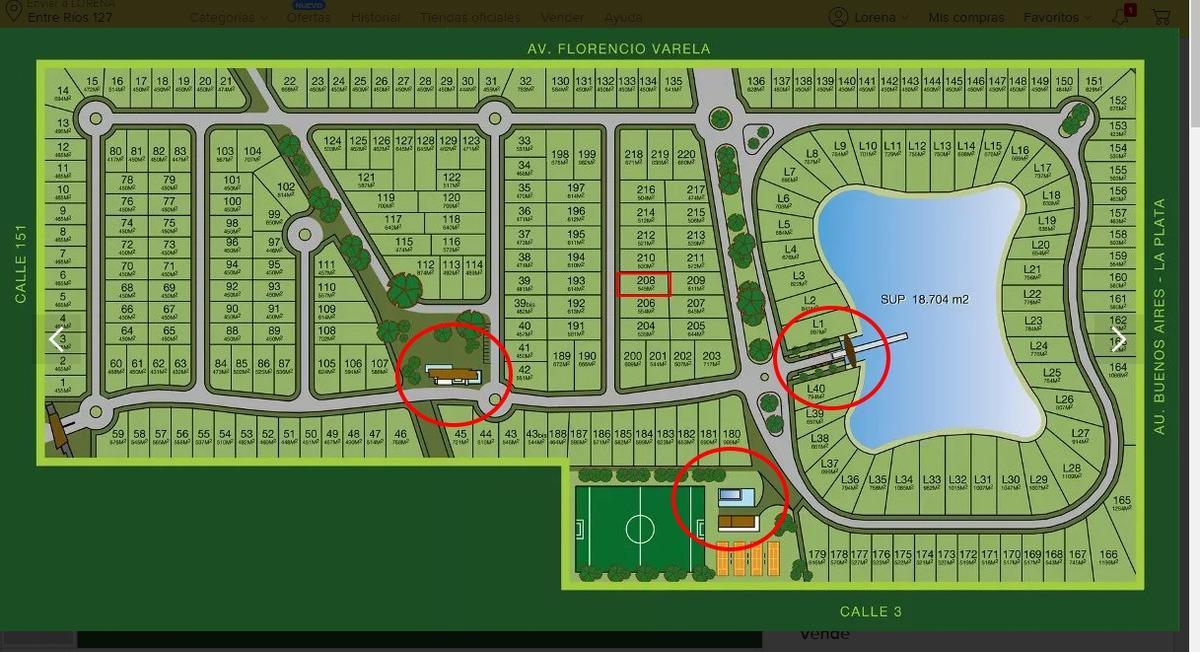 terreno central n° 208 barrio los troncos (dueño directo)