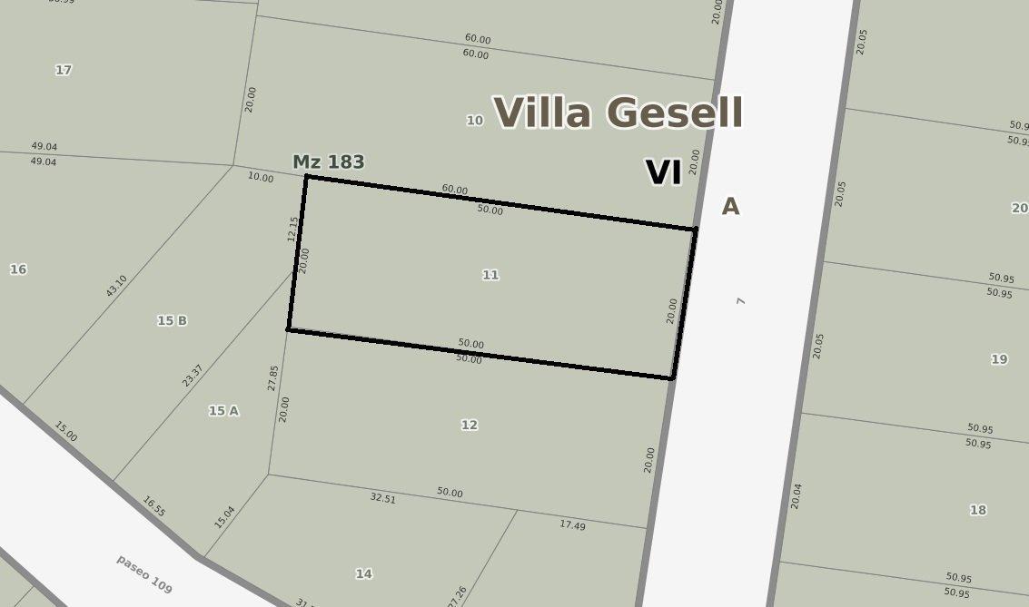 terreno centro villa gesell con proyecto 15 deptos