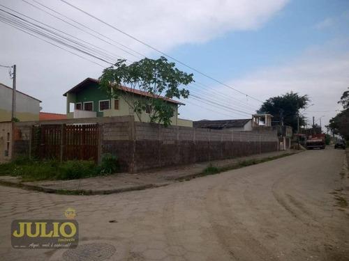 terreno com 300m² no bairro suarão em itanhaém. - te0254