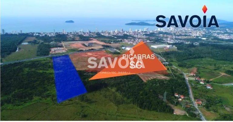 terreno com 43.665 m², frente para a br 101, balneário piçarras, sc - 2199