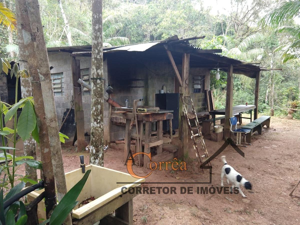 terreno com casa simples e agua abundante em juquitiba