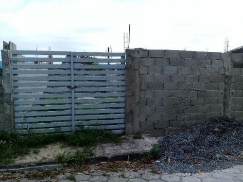 terreno com construção iniciada em itanhaém-sp! j. iemanjá
