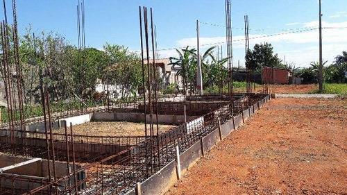 terreno com construção iniciada, em peruibe, 4km da rodovia