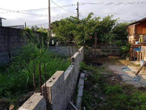 terreno com construção iniciada, itanhaém-sp! confira!!!