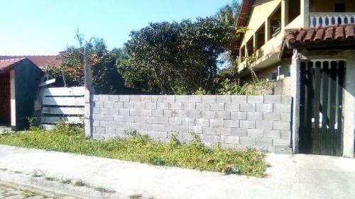 terreno com frente murada, no jardim palmeiras em itanhaém