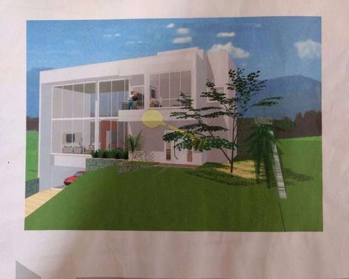 terreno com projeto aprovado em condomínio à venda na serra da cantareira. - 1541 - 32145662
