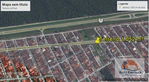 terreno com toda documentação, na vila caiçara em praia grande - 1.052 m² - te0003