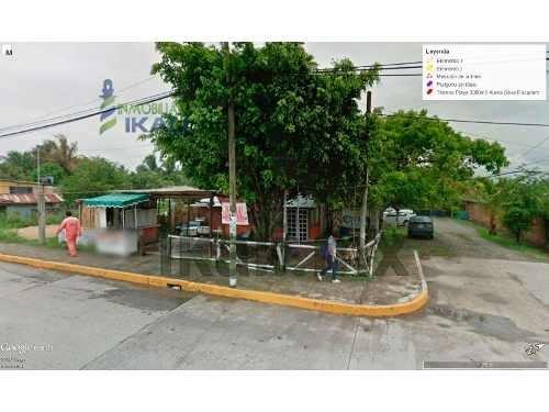 terreno comercial en renta tuxpan ver de 512 m² antes restaurante la botana se encuentra ubicado en una esquina frente del sector naval en la carretera a la barra y a unos metros del hotel crowne pla