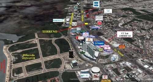 terreno comercial en venta 4,404 m2 av. tulum & contoy