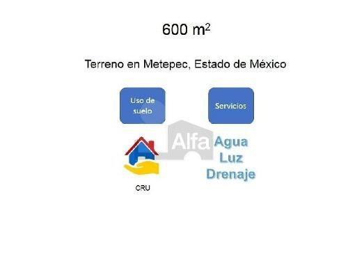 terreno comercial en venta en san gaspar tlahuelilpan, metepec, méxico