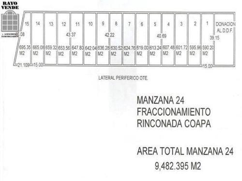 terreno comercial en venta periferico oriente lotes desde 456m² a $14,000.00 x m²