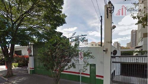 terreno comercial para locação, jardim anália franco, são paulo - te0327. - te0327