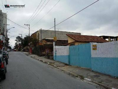 terreno comercial para locação, vila santa clara, são paulo - . - te0080