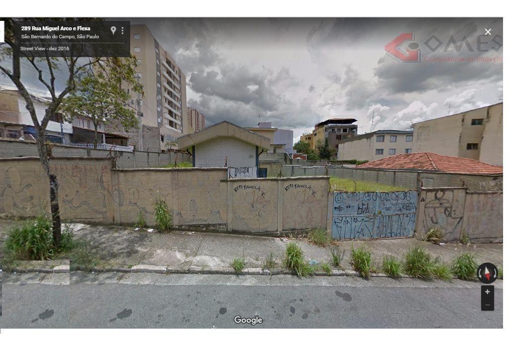 terreno comercial para venda e locação, vila euclides, são bernardo do campo - te0172. - te0172