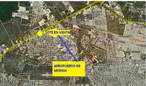 terreno comercial sobre periférico cerca del aeropuerto de merida