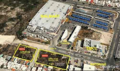terreno comercial ubicación premium en mérida, 2,064 m2 y 1,619 m2 disponibles.