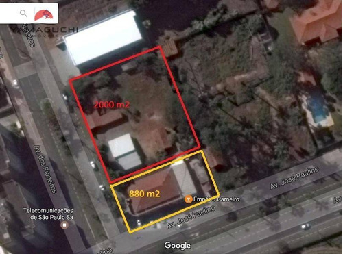 terreno comercial à venda, 2.880 m², santa terezinha, paulínia. - codigo: te0029 - te0029