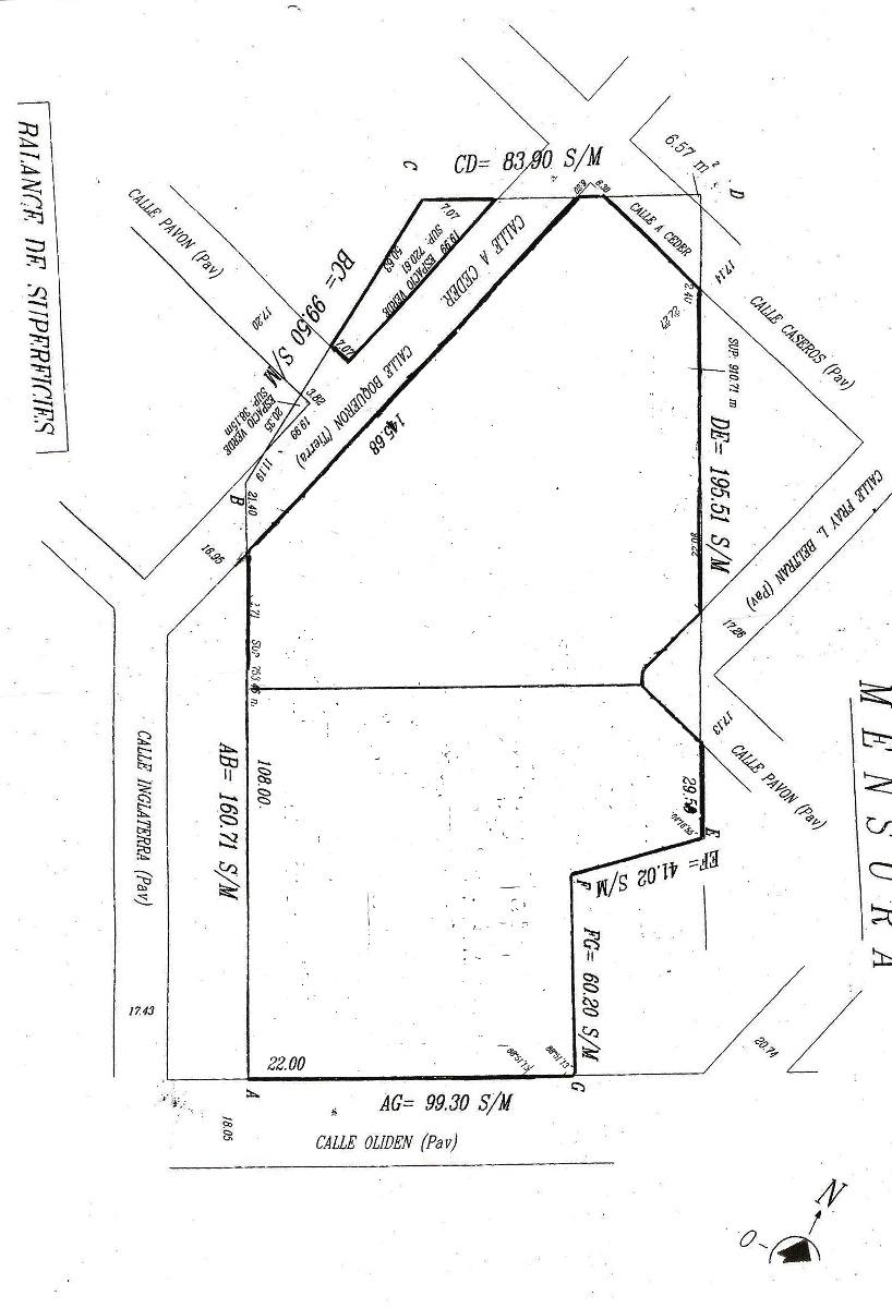 terreno comercial, vicente oliden lomas de zamora, 9321 m2