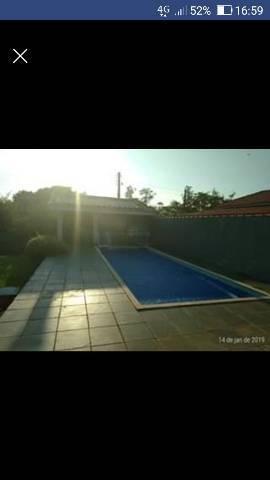 terreno com.piscina e churrasqueira e banheiro 13x30