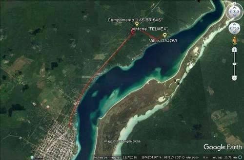 terreno con cabaña en la laguna de bacalar