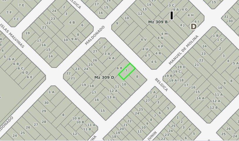 terreno con casa para demoler - belgica 1600 - ideal duplex - deptos