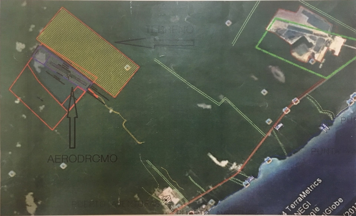terreno con cenote en venta  puerto aventuras con acceso a 12 km de la carretera