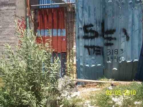 terreno con construcción en obra negra en colonia emiliano zapata, chalco. excelente ubicación.