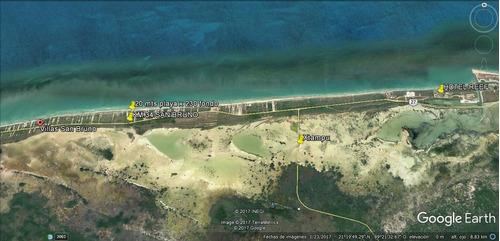 terreno con frente de playa en san bruno.