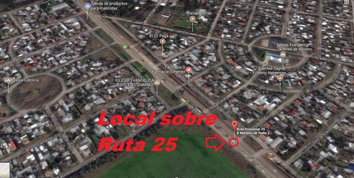 terreno con local sobre ruta 25