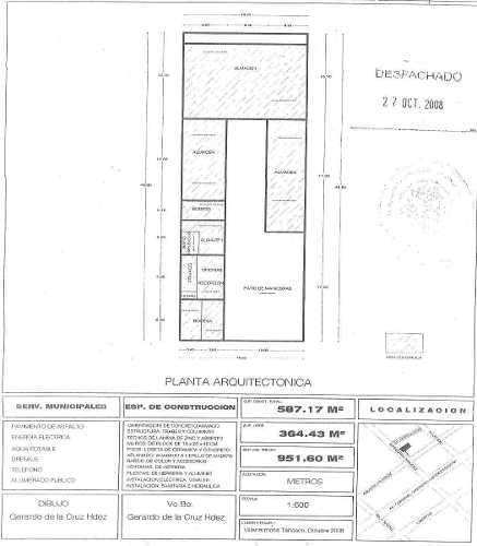 terreno con oficinas en venta