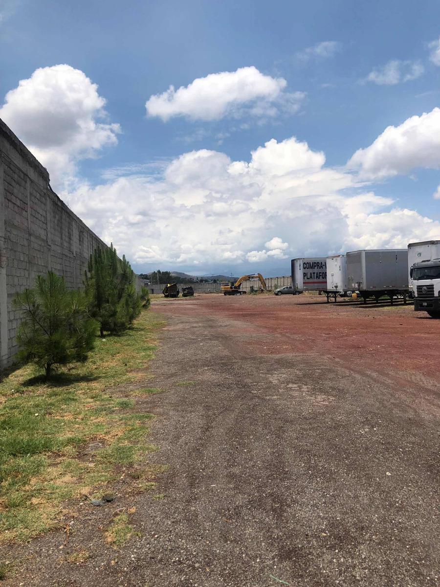 terreno con ofnas. y taller. cerca texcoco. amplios accesos