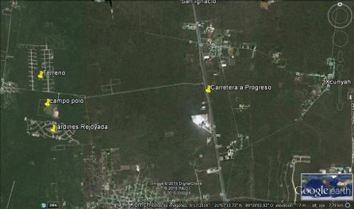 terreno con orilla de carretera frente a jardines de rejoyada m2 $195