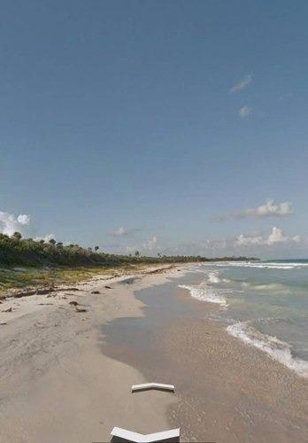 terreno con pie de playa en tulum