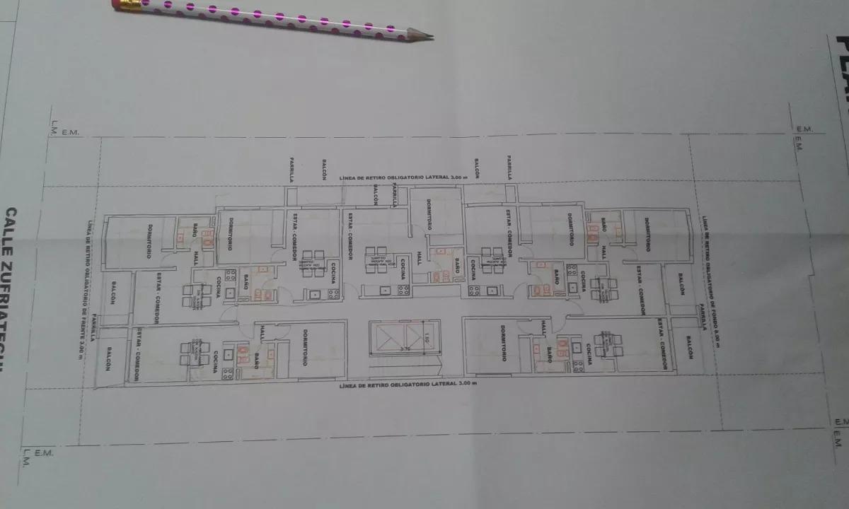 terreno con planos aprobados para hacer 5 pisos ituzaingo