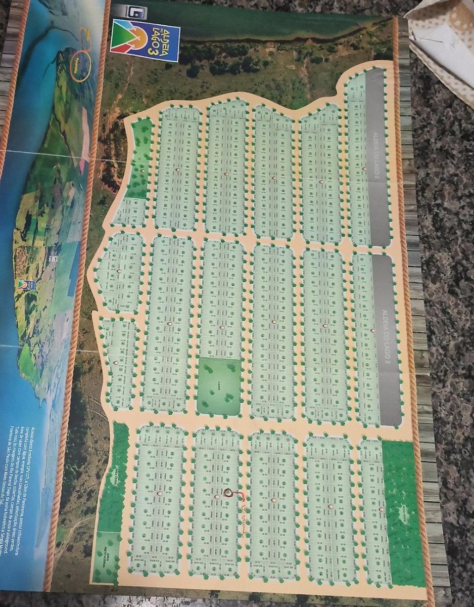 terreno condominio fechado aldeia do lago 3, com 450m2, proximo ao rio parana 400m