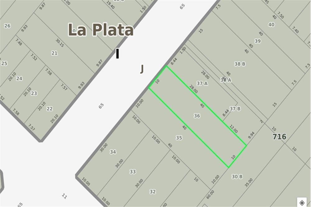 terreno de 10 x 40 metros en la plata