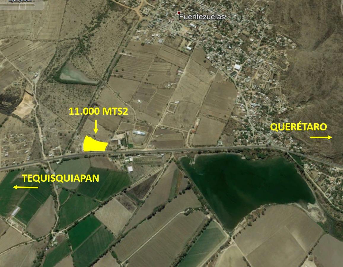 terreno de 11.000 tequisquiapan, pie de carretera